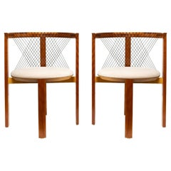 "Pair of Niels Jorgen Haugesen ""String Chairs"", Denmark, Scandinavian Modern"