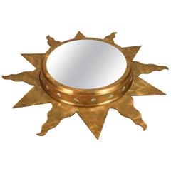 Pair of Niermann Weeks Bronze Copper Sunburst Wall Mirrors - Small