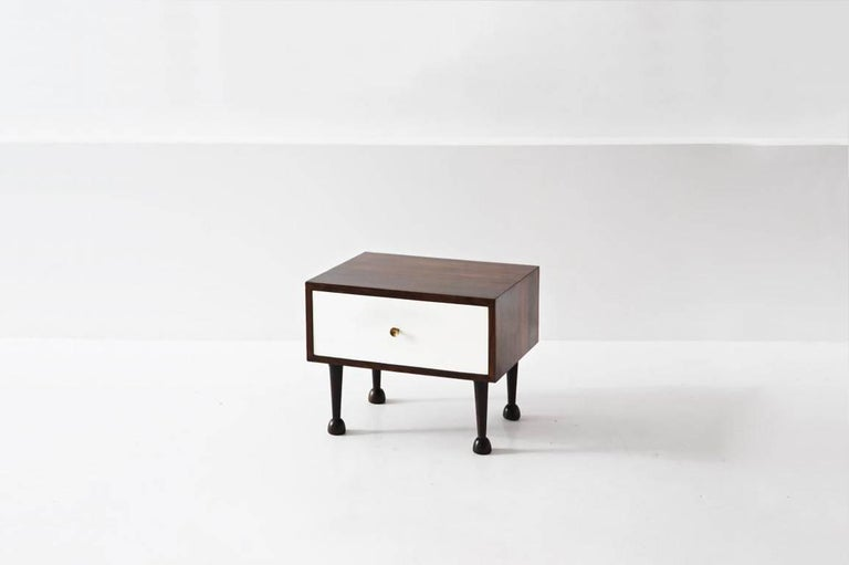 Modern Pair of Nightstand Tables by Geraldo de Barros, Brazil, 1956 For Sale