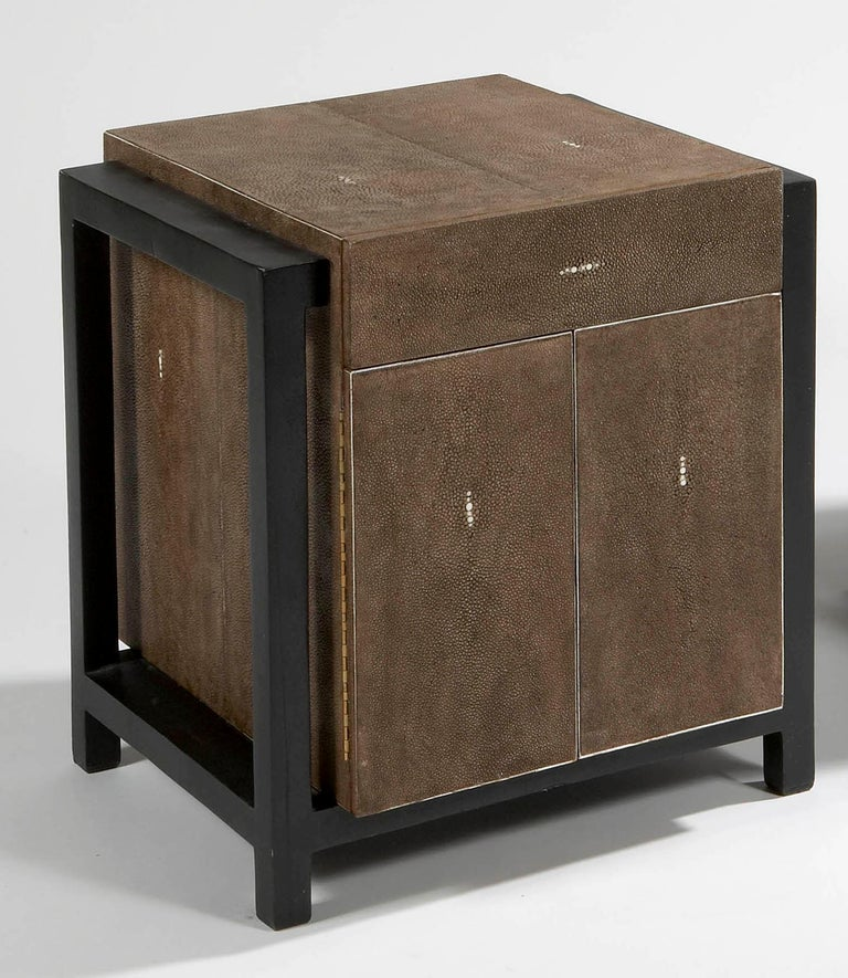 European Pair of Nightstands by Ria and Youri Augousti, circa 1990 For Sale