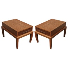 Pair of Nightstands or Side Tables by John Keal for Brown Saltman
