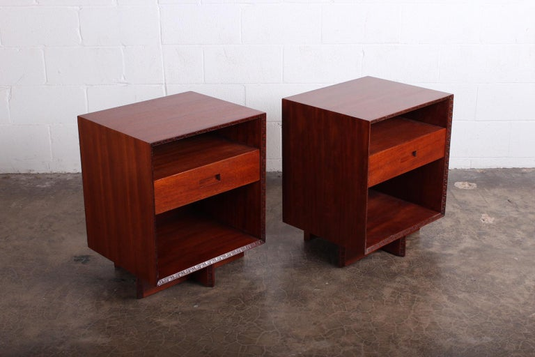 Pair of Nightstands by Frank Lloyd Wright for Henredon For Sale 7