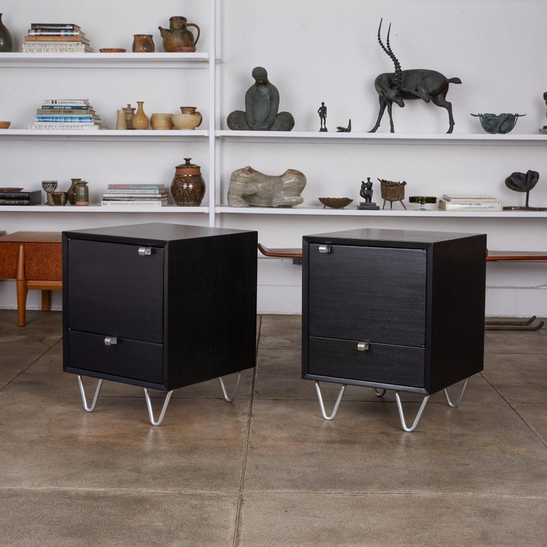 Mid-Century Modern Pair of Nightstands by George Nelson for Herman Miller For Sale