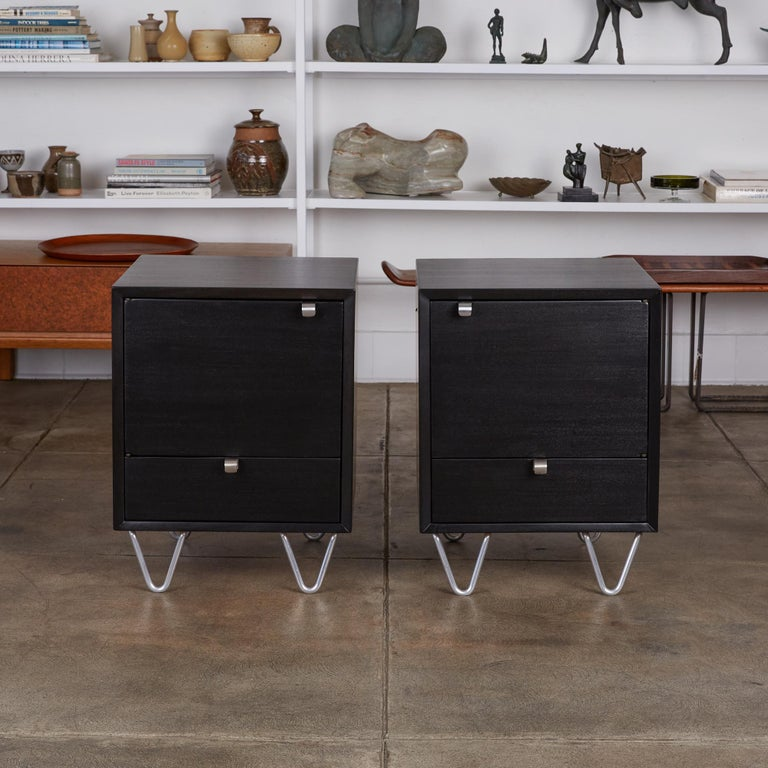 American Pair of Nightstands by George Nelson for Herman Miller For Sale