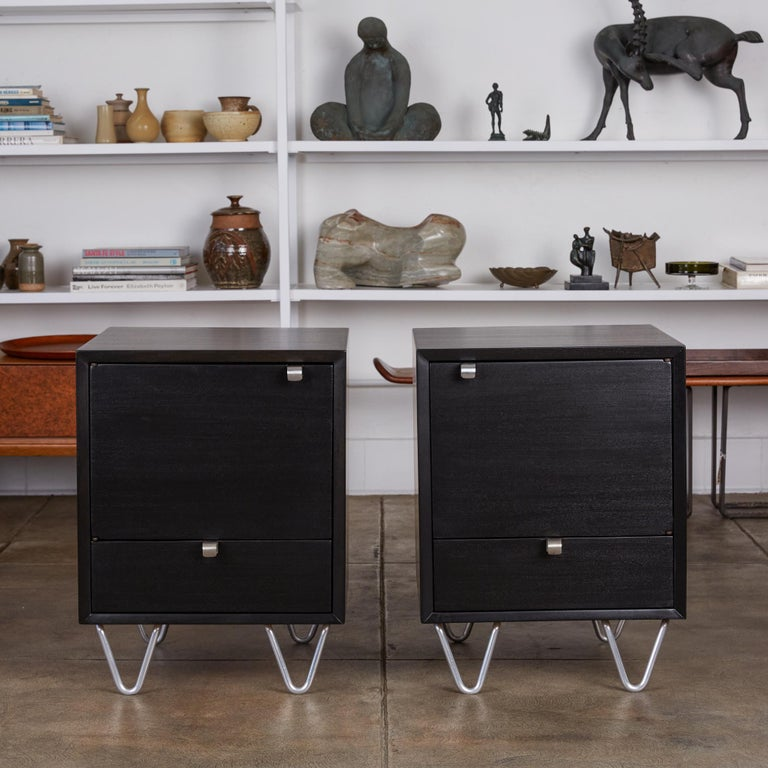 Ebonized Pair of Nightstands by George Nelson for Herman Miller For Sale