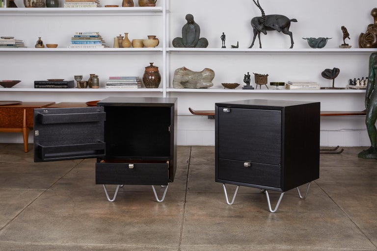 Pair of Nightstands by George Nelson for Herman Miller For Sale 1
