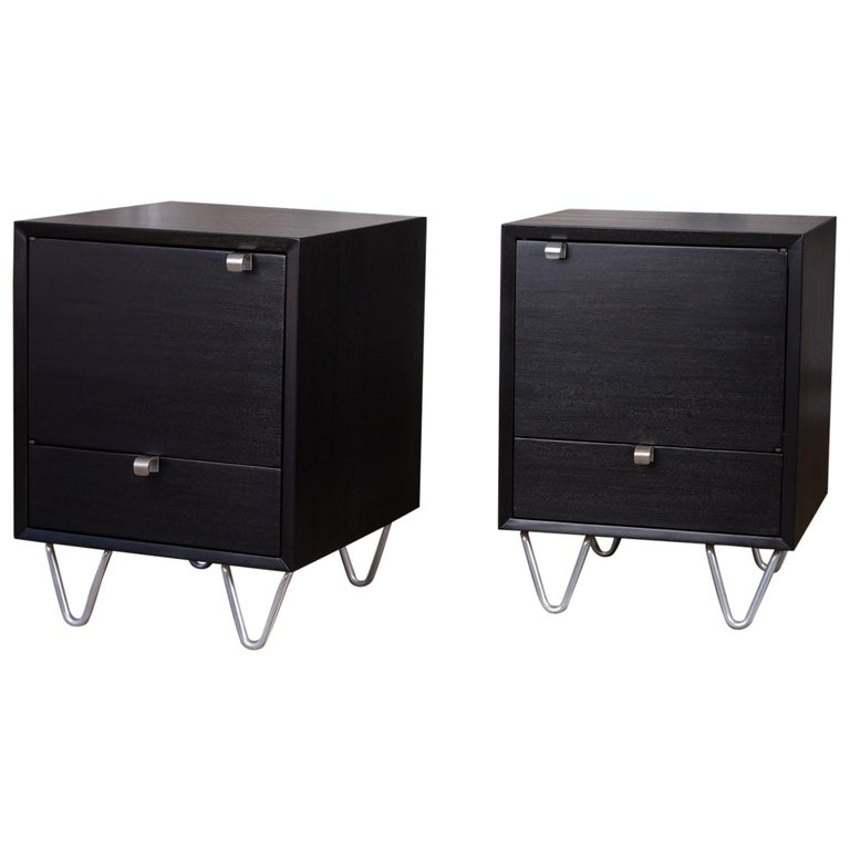 Pair of Nightstands by George Nelson for Herman Miller For Sale