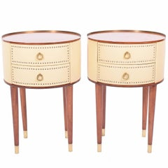 Pair of Nightstands by Halvdan Pettersson for Tibro