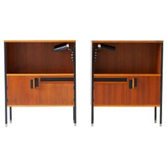 Pair of Nightstands by Ico Parisi for MIM with Gino Sarfatti Lamps, 1958