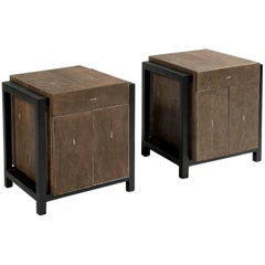 Pair of Nightstands by Ria and Youri Augousti, circa 1990