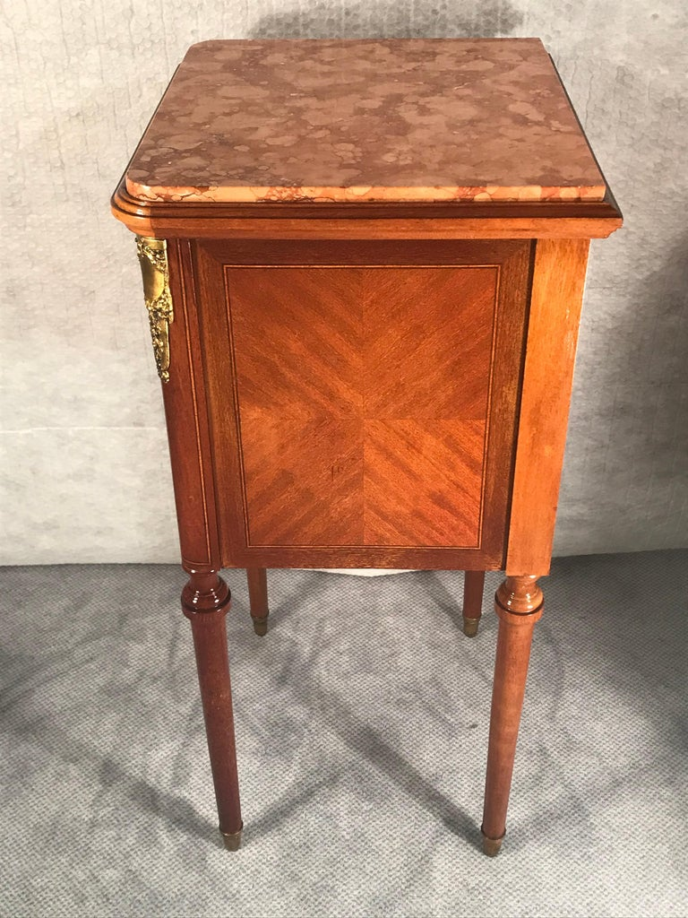Pair of Nightstands, Early Art Nouveau Style, France, 19th century For Sale 3
