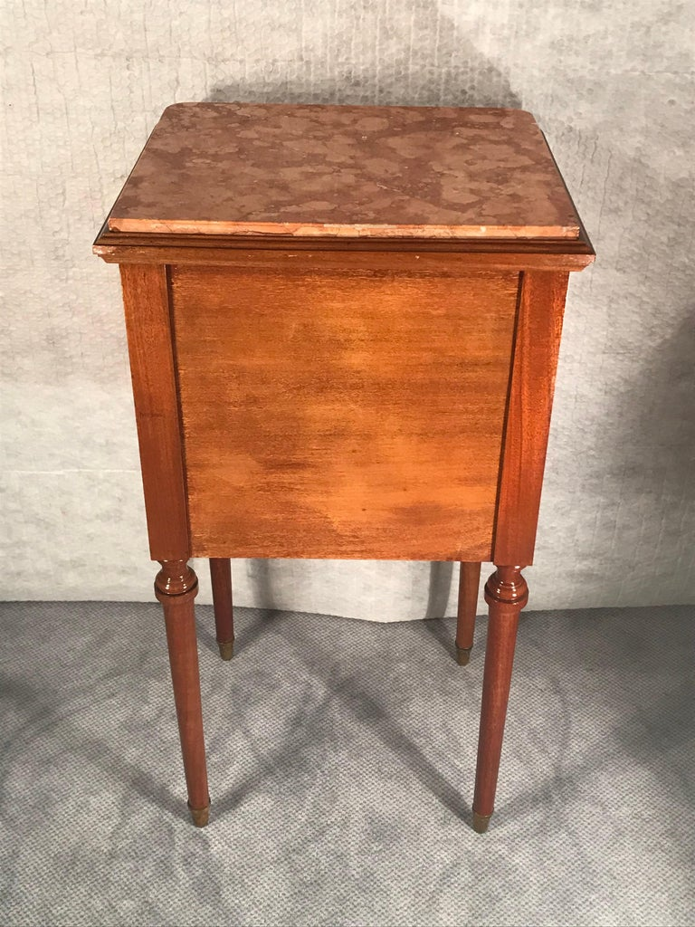 Pair of Nightstands, Early Art Nouveau Style, France, 19th century For Sale 4