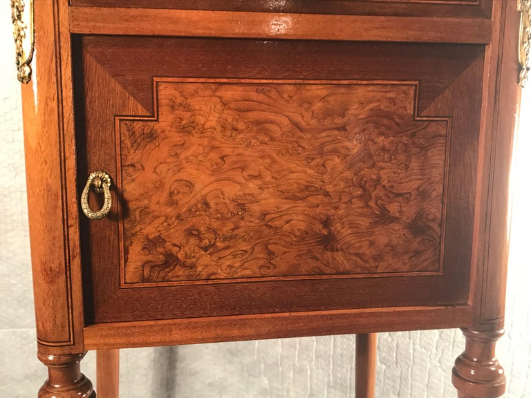 Late 19th Century Pair of Nightstands, Early Art Nouveau Style, France, 19th century For Sale