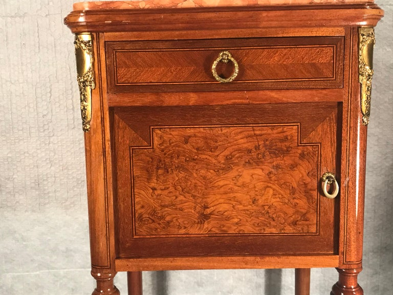 Pair of Nightstands, Early Art Nouveau Style, France, 19th century For Sale 2