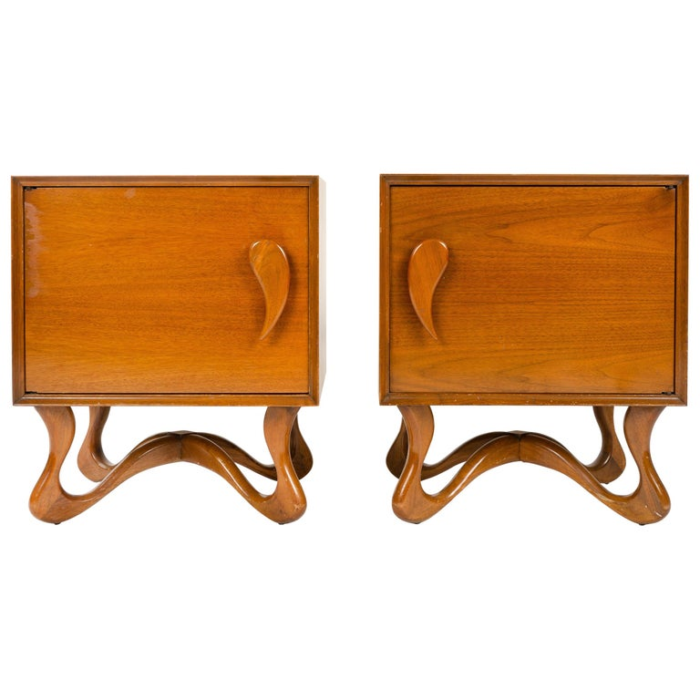 Pair of Nightstands For Sale