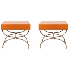 Pair of Nightstands, France, circa 1970