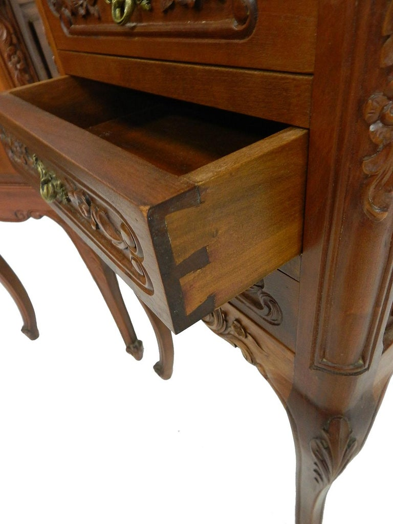 Pair of Nightstands French Side Cabinets Bedside Tables, 20th Century For Sale 1