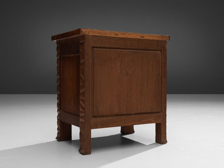 Pair of Nightstands in Oak by Ernesto Valabrega For Sale 4