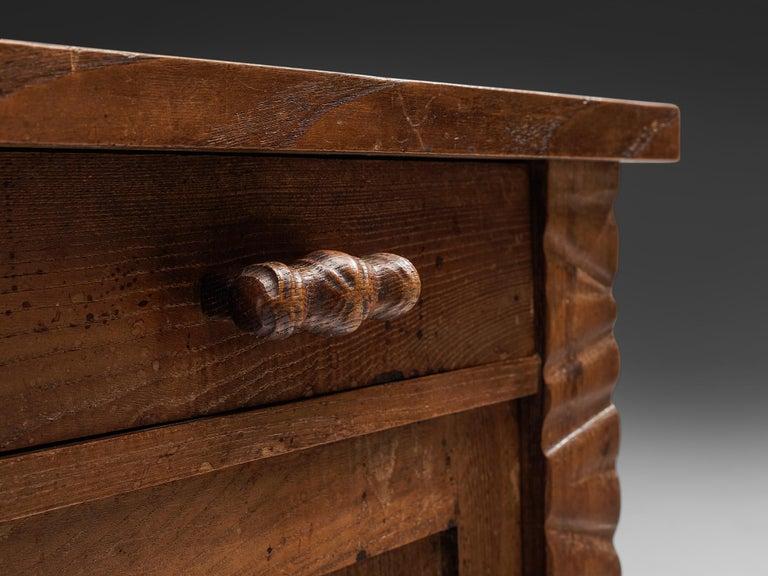 Italian Pair of Nightstands in Oak by Ernesto Valabrega For Sale
