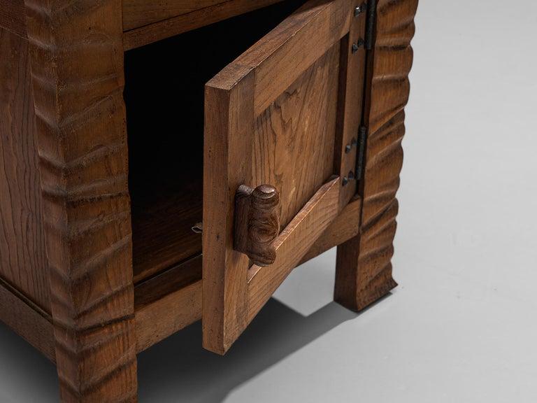 Pair of Nightstands in Oak by Ernesto Valabrega For Sale 1