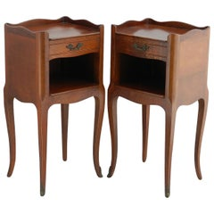 Pair of Nightstands Side Cabinets French Bedside Tables Louis Style 20th Century