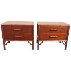 Pair of Nightstands/Side Tables by Frank Kyle