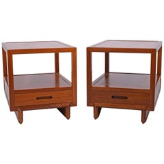 Pair of Nightstands/Side Tables by Frank Lloyd Wright for Heritage Henredon