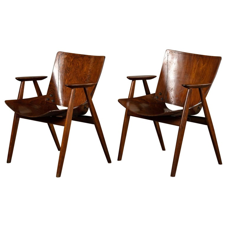 Pair of Niko Kralj Shell Armchairs For Sale