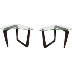 Pair of Noguchi Style Modernist End Tables