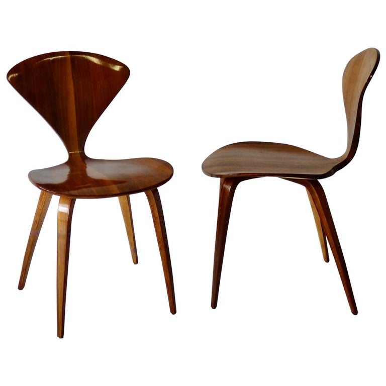 Pair of Norman Cherner for Plycraft Side Chairs For Sale