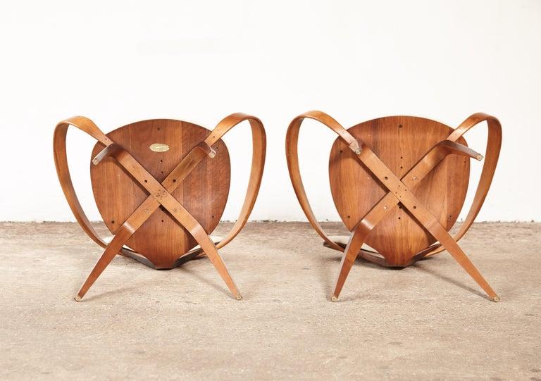 Pair of Norman Cherner Pretzel Armchairs, Plycraft, USA, 1960s 1