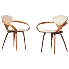 Pair of Norman Cherner Pretzel Armchairs, Plycraft, USA, 1960s