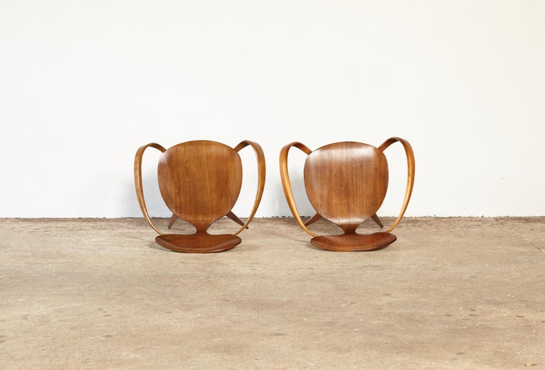 Pair of Norman Cherner Pretzel Dining Chairs, Made by Plycraft, USA, 1960s For Sale 1
