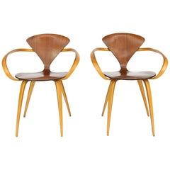Norman Cherner Pretzel Dining Chairs, Made by Plycraft, USA, 1960s