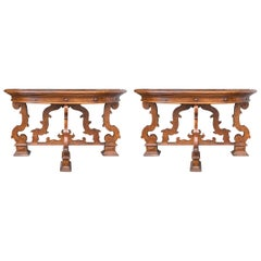 Pair of Northern Italian Console Tables