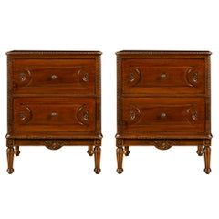 Pair of Northern Italian Mid-18th Century Walnut Chests