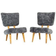 Pair of Norwegian 1940s Sheepskin Chairs