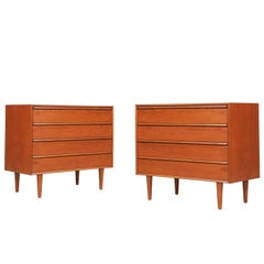 Pair of Norwegian Modern Teak Chest by Westnofa