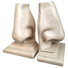 Pair of Nose Bookends by C2C Designs
