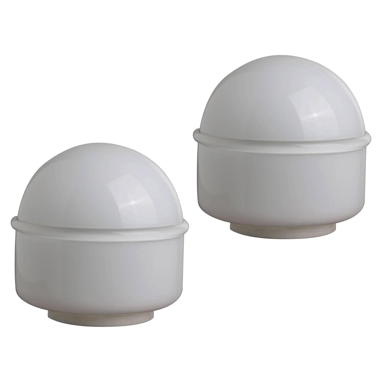"Pair of Noti Massari Murano Glass ""Tecla"" Italian Table Lamps for Leucos, 1960s"