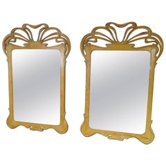 Pair of Nouveau Style Mirrors in the Manner of Majorelle