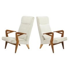 Pair of Oak Armchairs by Parker Knoll, Belgium, 1960's