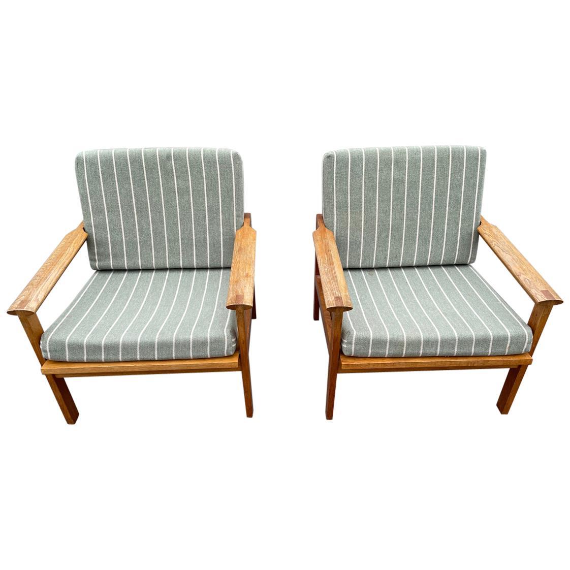 Pair of Oak Armchairs, Model Capella, Designed by Illum Wikkelsø, 1960s