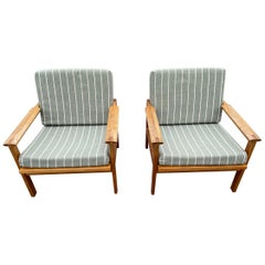 Pair of Oak Armchairs, Model Capella, Designed by Illum Wikkelsø, 1960s