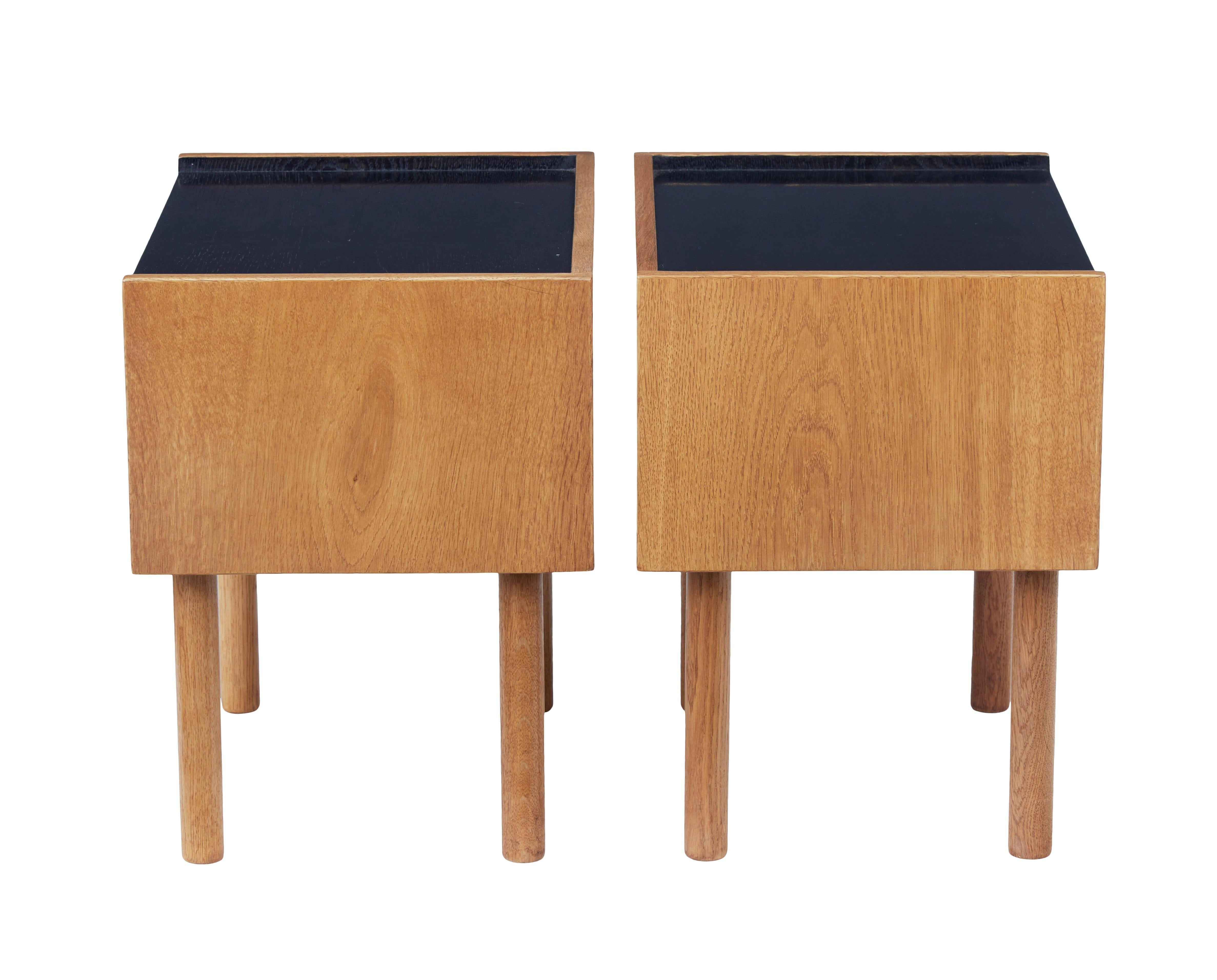 Antiques Pair Of Oak Bedside Tables Designed By Hans J Wegner For Ry Mobelfabrik