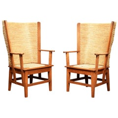 Pair of Oak Framed Orkney Chairs