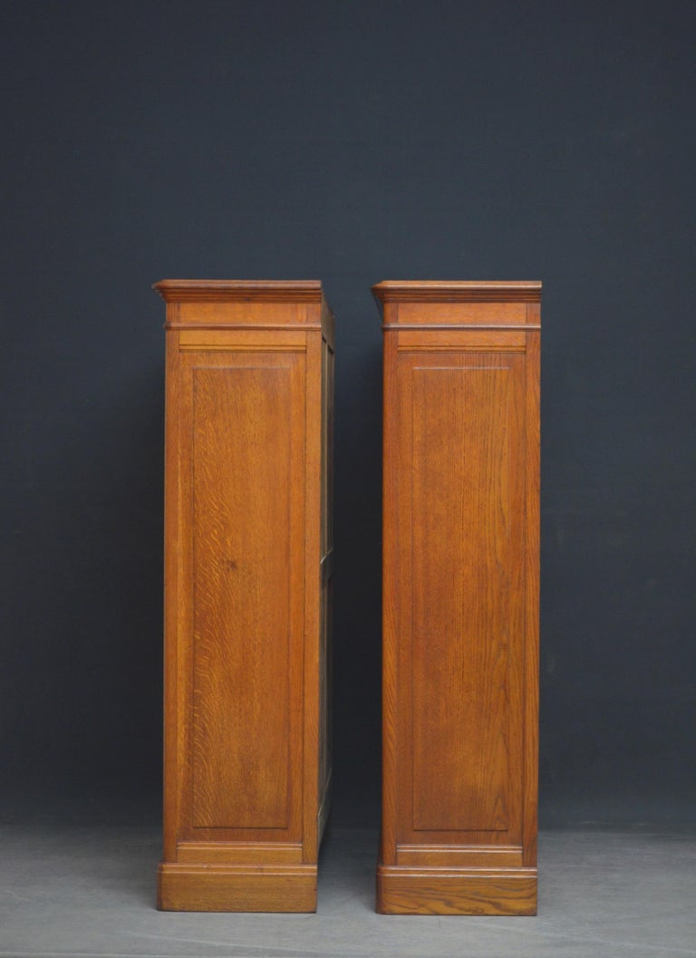 Pair of Oak Open Bookcases For Sale 5