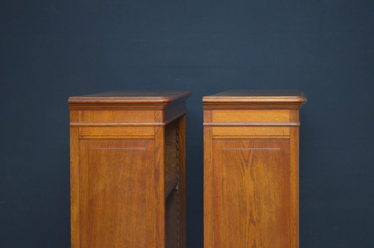 Pair of Oak Open Bookcases In Good Condition For Sale In Whaley Bridge, GB