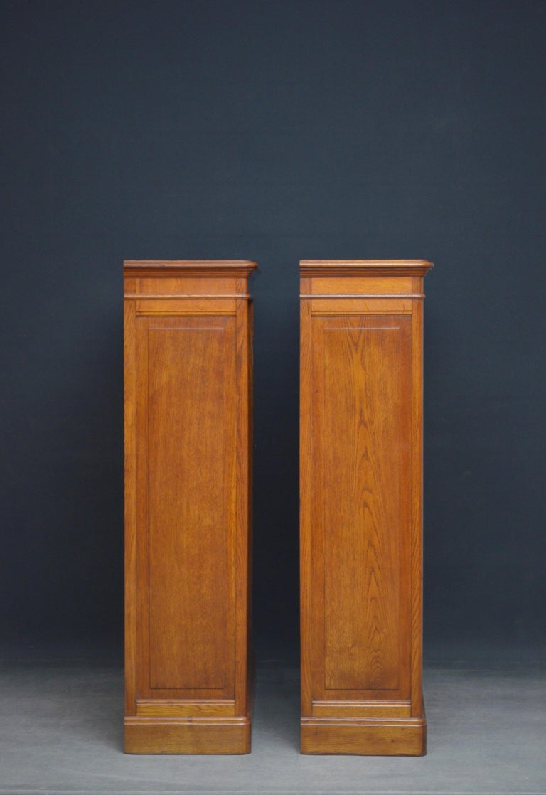 Early 20th Century Pair of Oak Open Bookcases For Sale