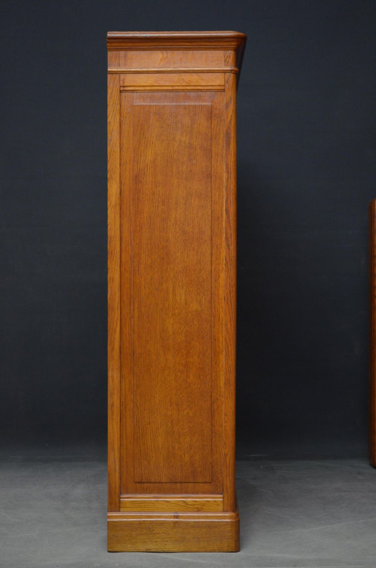 Pair of Oak Open Bookcases For Sale 1